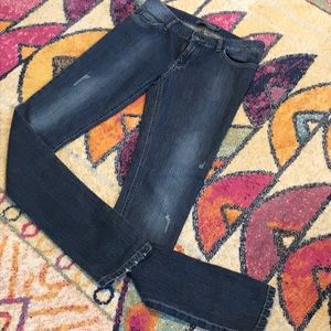 Zara Distressed Washed Skinny Jeans